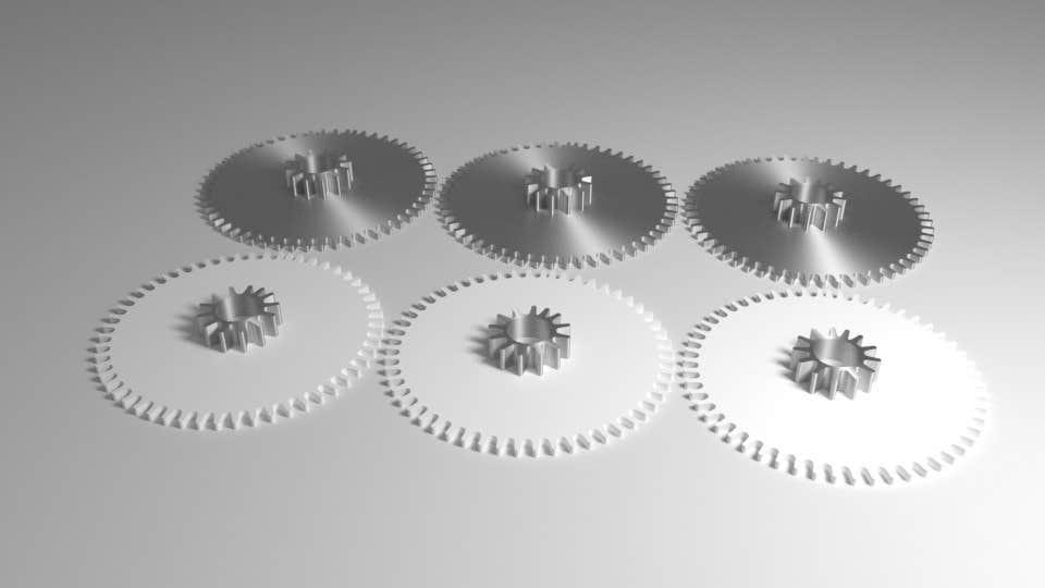 Proposition n°4 du concours Simple 3D illustration of metal/plastic gears