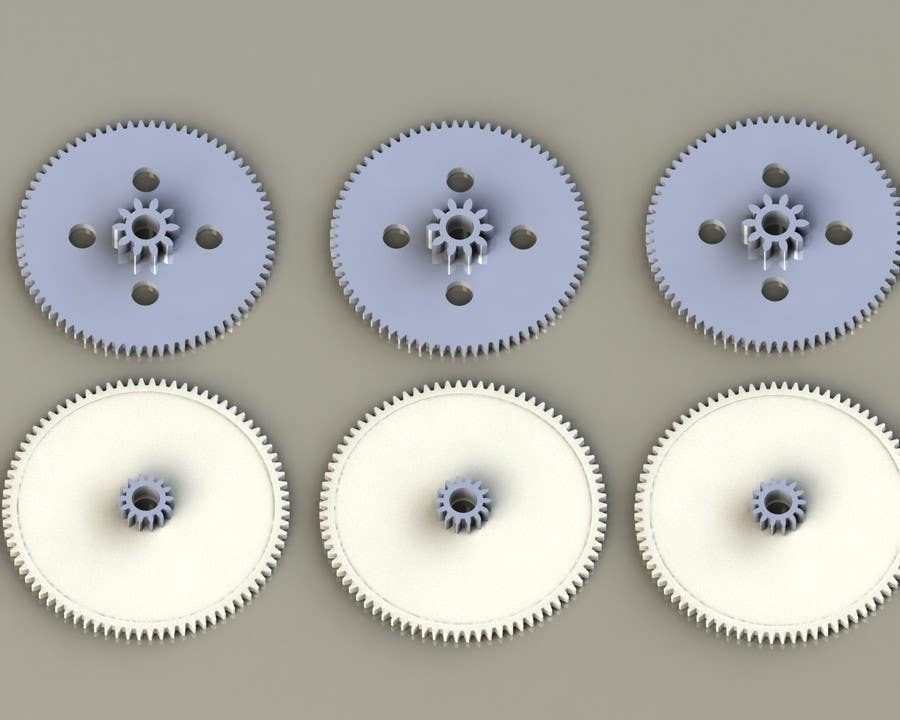 Proposition n°11 du concours Simple 3D illustration of metal/plastic gears