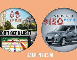 "nº 4 pour Design 2 banners ""Don't get a lost!"" and ""Suzuki Alto $150 per week"" par jalpendesai"