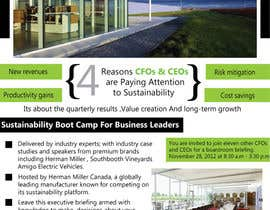 #13 for Business Sustainability Boot Camp - 1 page digital flyer by rsbhat