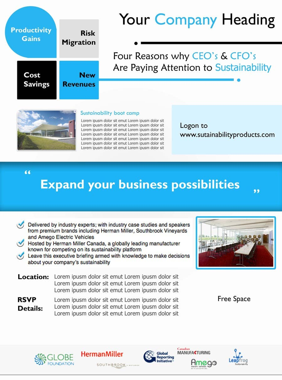 #36 for Business Sustainability Boot Camp - 1 page digital flyer by ysomanagari