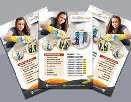 nº 57 pour Design an a5 flyer for a cleaning business par uniquegraphix