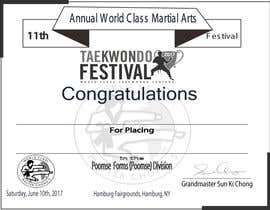 nº 20 pour Martial Arts Tournament Certificate par jewelstd