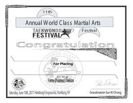 nº 21 pour Martial Arts Tournament Certificate par jewelstd