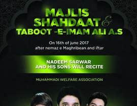nº 1 pour Design poster for Shahadat Imam Ali a.s par ISShaikh007