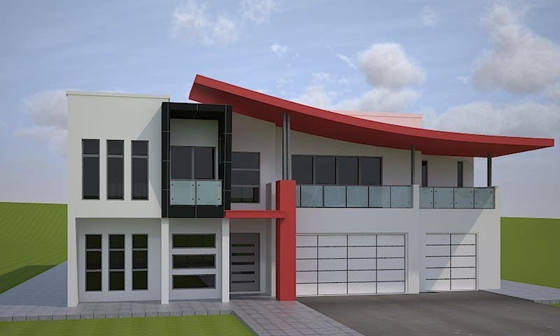 Contest Entry 12 For I Need A Colour Scheme Designed Modern House Exterior