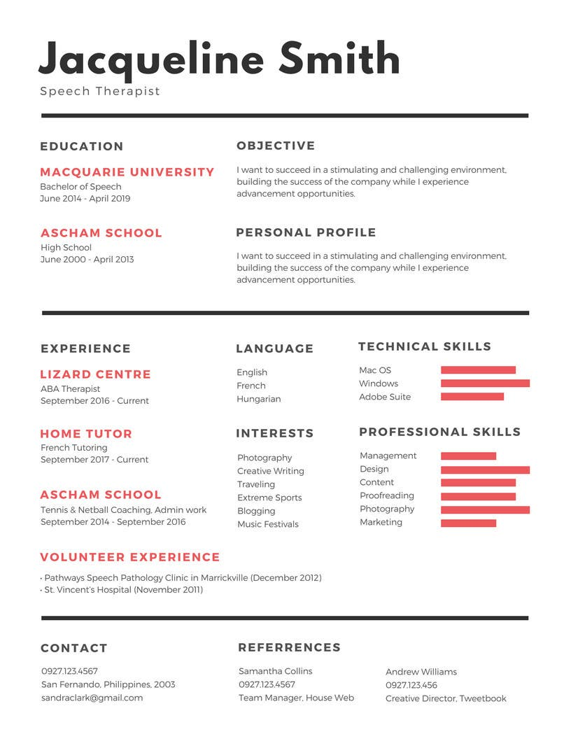 Proposition n°25 du concours I need someone to deign an easily editable resume