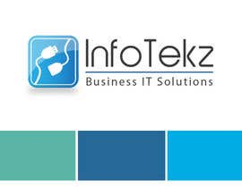 #316 untuk Logo Design for INFOTEKZ  (Please Try 3D Logo/Font) : Please see attached vector image oleh RamonDNC
