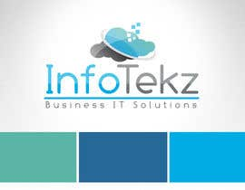 #305 untuk Logo Design for INFOTEKZ  (Please Try 3D Logo/Font) : Please see attached vector image oleh RamonDNC