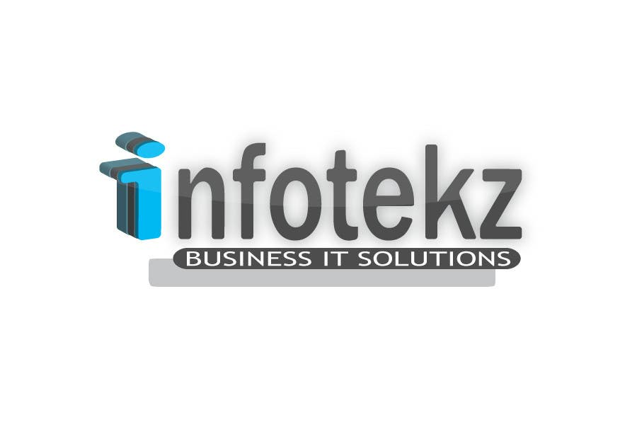 Logo Design Contest Entry #315 for Logo Design for INFOTEKZ  (Please Try 3D Logo/Font) : Please see attached vector image