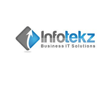 #277 untuk Logo Design for INFOTEKZ  (Please Try 3D Logo/Font) : Please see attached vector image oleh rraja14