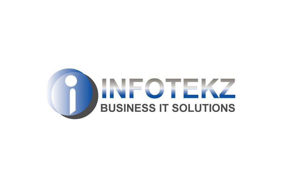 #310 for Logo Design for INFOTEKZ  (Please Try 3D Logo/Font) : Please see attached vector image by won7