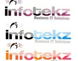 #309 untuk Logo Design for INFOTEKZ  (Please Try 3D Logo/Font) : Please see attached vector image oleh disignSoft
