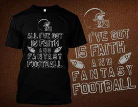 nº 10 pour Typography Tshirt Design for Fantasy Football par ttokder