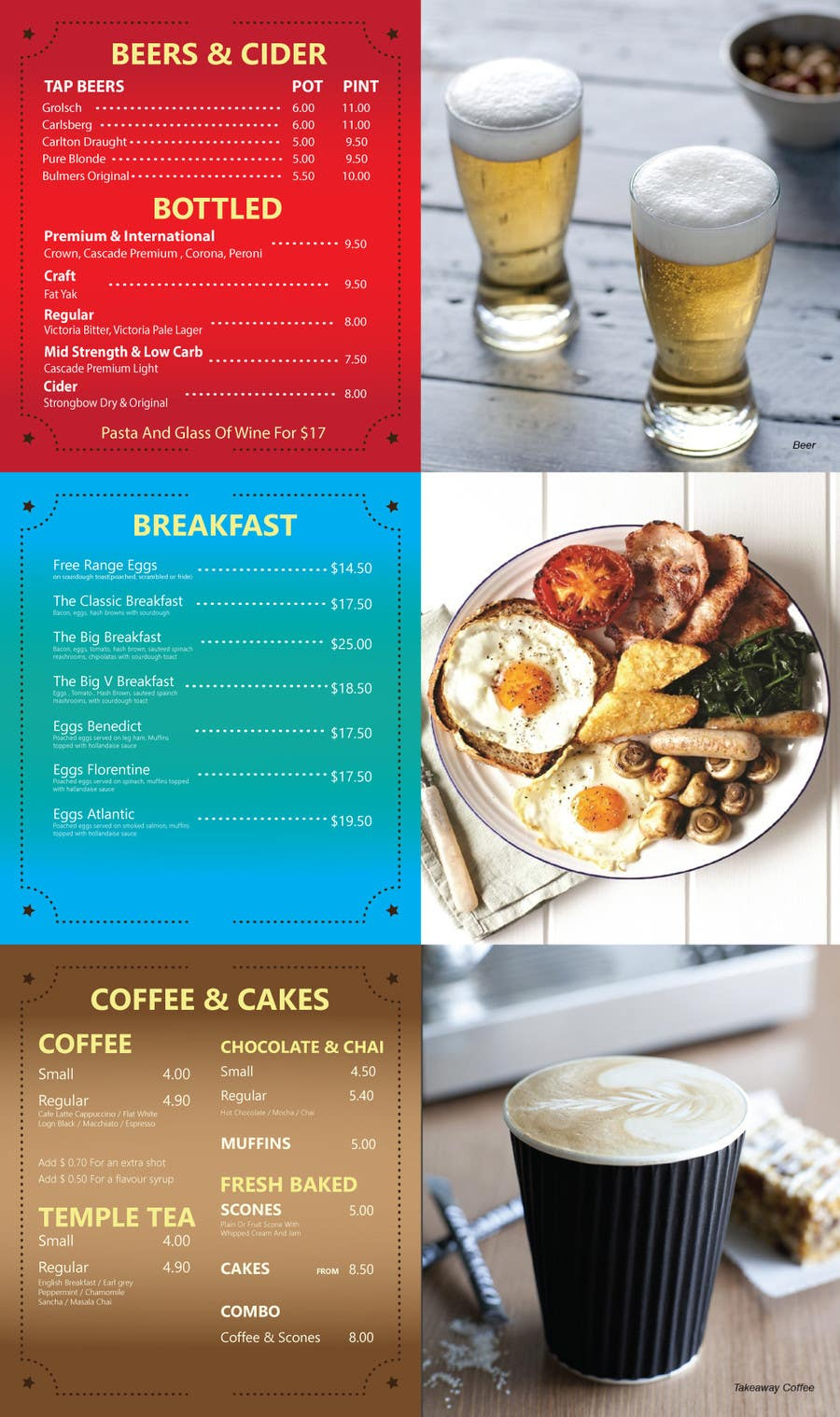 Proposition n°18 du concours I need some digital menus Design concepts