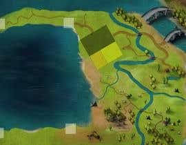 nº 5 pour Board map for board game prototype par kirasicart