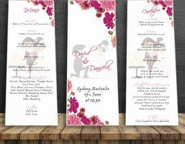 nº 25 pour Design a wedding menu par Mi3331