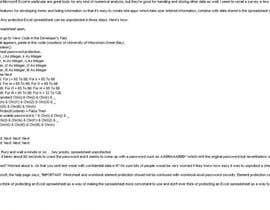 nº 9 pour Remove Password From Sheets & Workbook Excel par vkrathi0121