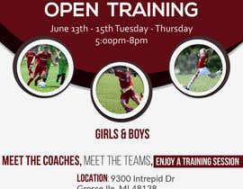 nº 4 pour URGENT Design a Flyer Advertising Open Training for our Club par fadovicattia