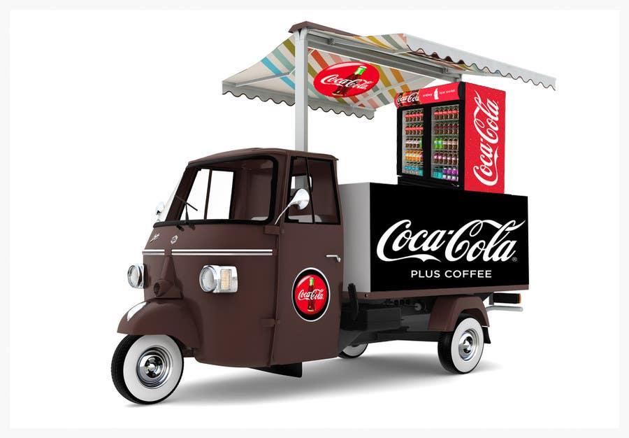 3d coca cola piaggio ape coffee van | freelancer