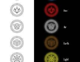 nº 4 pour Elemental icons for book cover par ledinhan2596