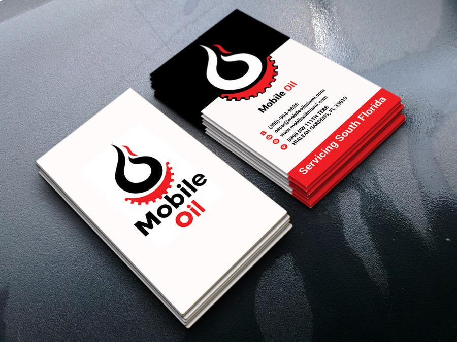 Contest Entry 50 For Design Some Business Cards A Mobile Oil Change Company