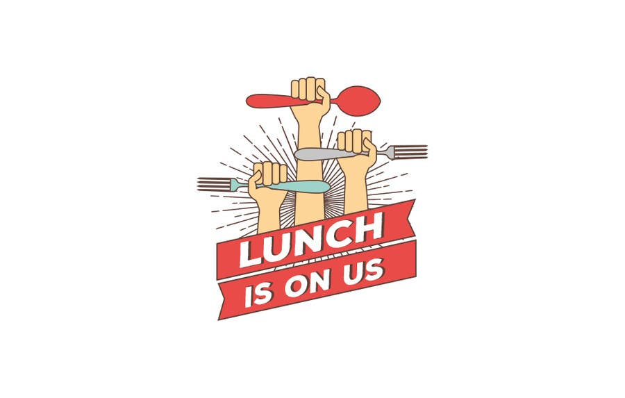 Proposition n°607 du concours Lunch Is On Us Logo