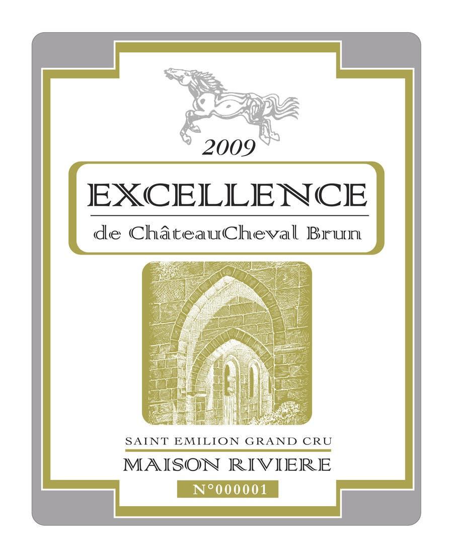 Kilpailutyö #1 kilpailussa Print & Packaging Design for Excellence Bordeaux Wine