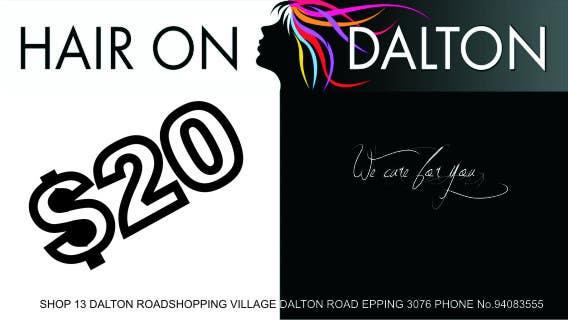Конкурсная заявка №150 для Stationery Design for HAIR ON DALTON