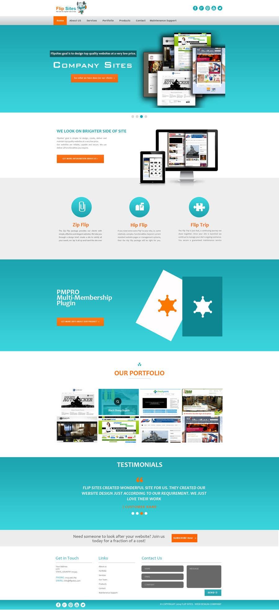 Inscrição nº                                         19                                      do Concurso para                                         Design Website for Web design company in PSD