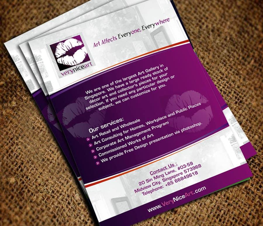 Konkurrenceindlæg #                                        11                                      for                                         Flyer Design for Very Nice Art Pte Ltd (veryniceart.com)