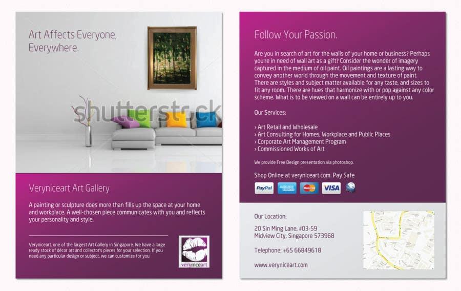 Bài tham dự cuộc thi #79 cho Flyer Design for Very Nice Art Pte Ltd (veryniceart.com)