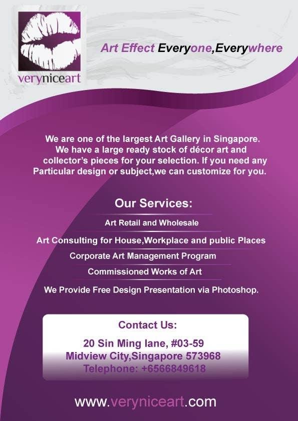 Inscrição nº 33 do Concurso para Flyer Design for Very Nice Art Pte Ltd (veryniceart.com)