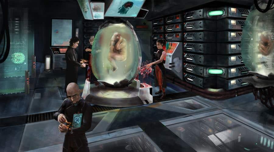 Sci Fi Laboratory Concept Art