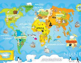 #23 untuk Illustration Design for World Maps for Kids oleh onanana