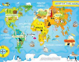 nº 35 pour Illustration Design for World Maps for Kids par onanana