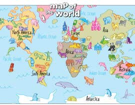 #39 untuk Illustration Design for World Maps for Kids oleh Ferrignoadv