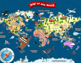 #45 untuk Illustration Design for World Maps for Kids oleh damirruff86