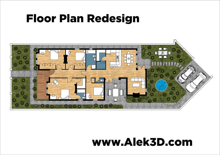 Entry 23 by stalek42 for redesign floor plans for for Floor plans for existing homes
