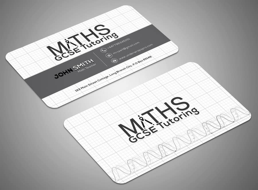 Entry #13 by SamiraBH for Design a Mathematics based business card ...