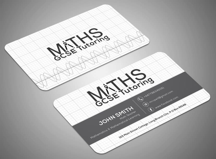 Entry 20 by samirabh for design a mathematics based business card contest entry 20 for design a mathematics based business card colourmoves