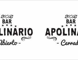 #19 untuk Diseñar un logotipo for Bar Apolinario oleh javierlizarbe