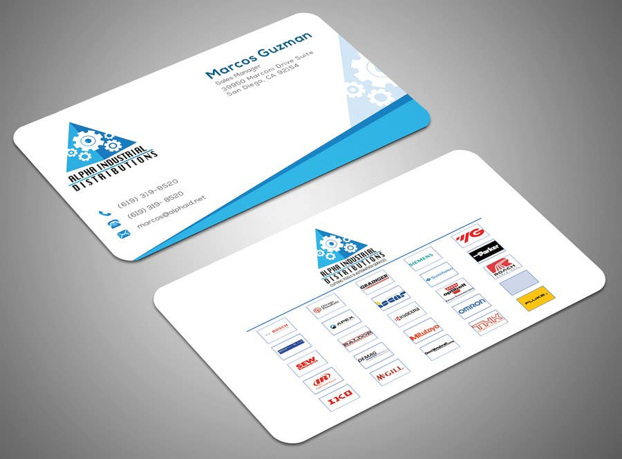 Entry #72 by SamiraBH for Business Card Design for Industrial Supply ...