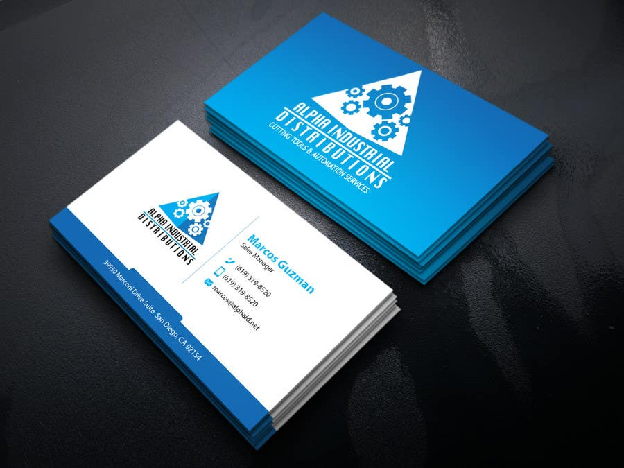 Entry #82 by Mahmud36 for Business Card Design for Industrial Supply ...