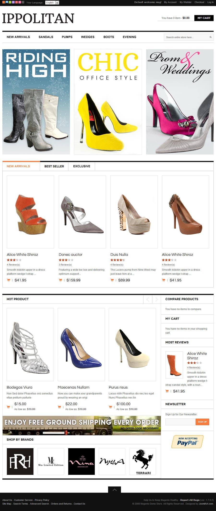 Kilpailutyö #16 kilpailussa Website Design for Re-Design a Theme (Joomla E-Commerce)