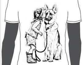 nº 20 pour Design a T-Shirt for with PEOPLE AND DOG in it  #13 par ashrafulalam135