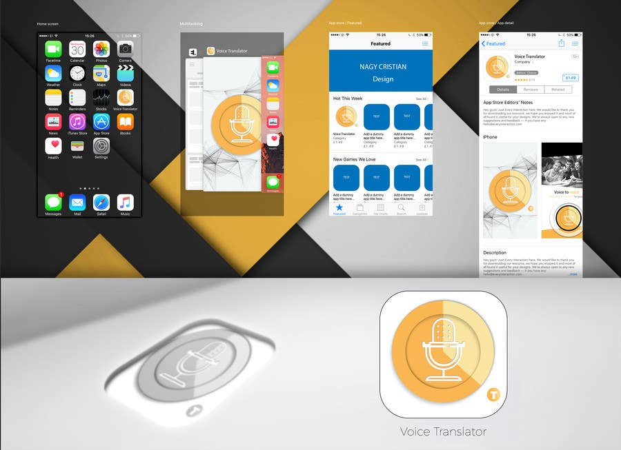 Entry #10 by bongiovyii for Translator App icon 1024x1024
