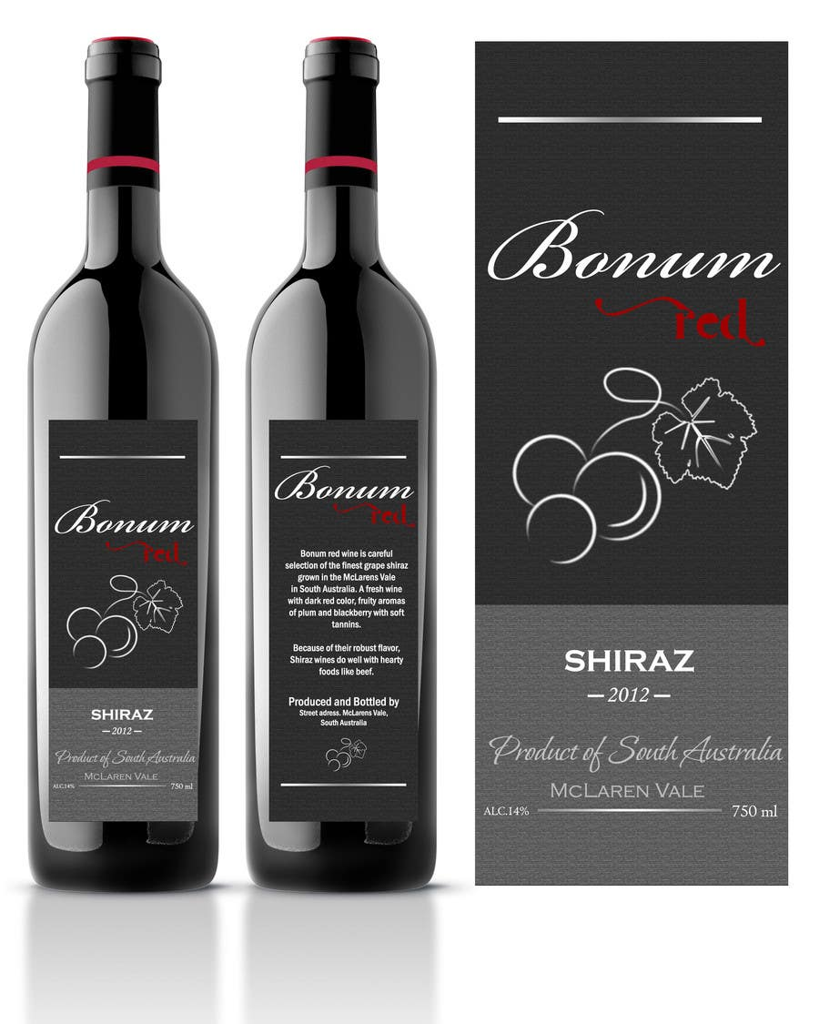 Конкурсная заявка №37 для Print & Packaging Design for a wine brand