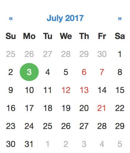 Entry #12 by Chougui1991 for Bootstrap Datepicker inline css