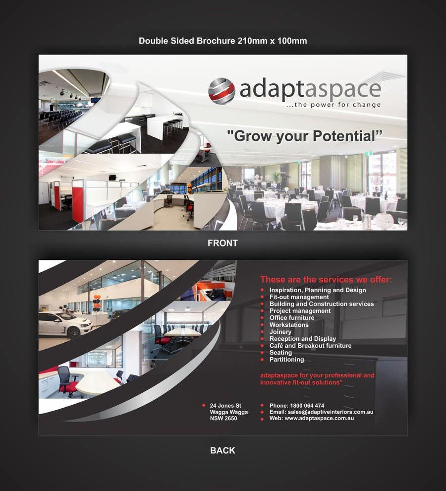 Contest Entry #                                        9                                      for                                         Graphic Design/ Marketing / Brochure Card for adaptaspace
